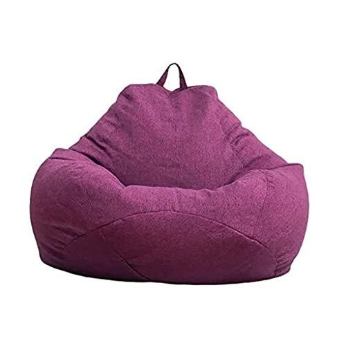 WHHK Lazy Sitzsack Stuhl Sofabezug Lounger Sofabezug Gaming Aufbewahrungsbeutelbezug Für Erwachsene Und Kinder Ohne Füllung (Color : Purple, Size : 75 X95CM)