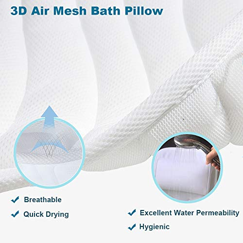 Full Body Bath Pillow, Upgraded Non-Slip Bath Cushion for Tub, Spa Bathtub Pillow Mattress for Head Neck Shoulder and Back Rest Support,Hot Tub Accessories – 50