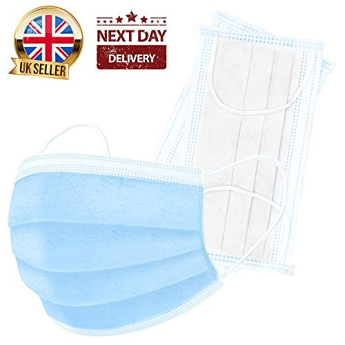 (Pack of 50) 3-Ply Safety Mask E...