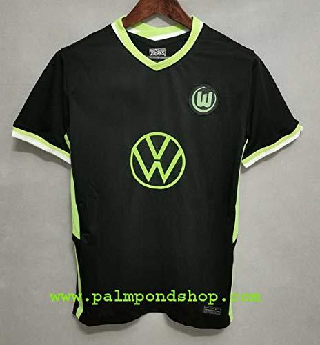 ZA VFL. Wolfsburg Black Soccer Jersey Trikot 2020-2021 Size L