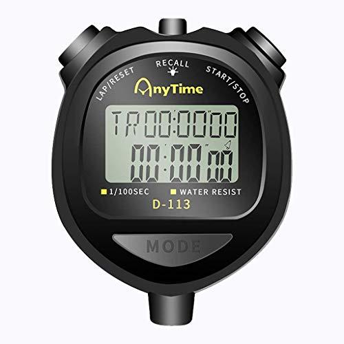 Operación precisa de una tecla, pantalla grande cl Cronómetro Temporizador Professional Sports Stopwatch Handheld Digital Counter Race dedicado Ejecución de la pista de natación y campo de campo Cronó