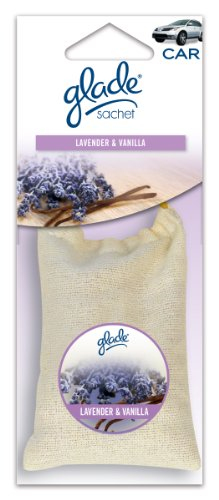Glade Sachet Hanging Car and Home Air Freshener, Lavender Vanilla Scent