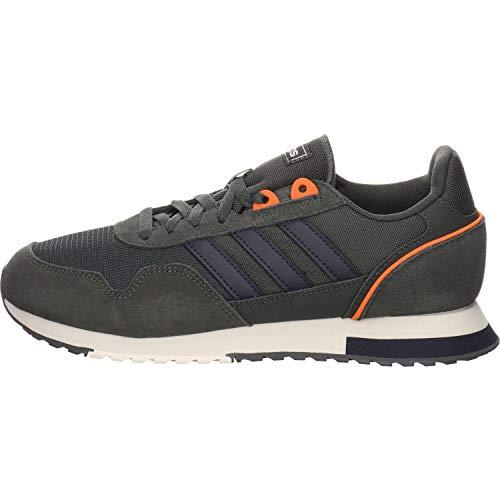 Adidas 8K 2020, Zapatillas para Correr Hombre, Legend Earth/Legend Ink/Chalk White, 43 1/3 EU