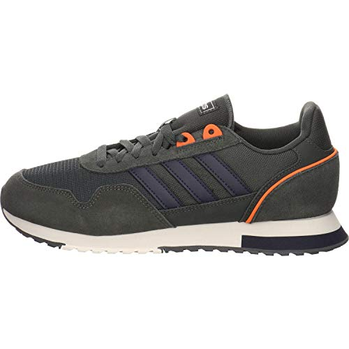 Adidas 8K 2020, Zapatillas para Correr Hombre, Legend Earth/Legend Ink/Chalk White, 43 1/3 EU