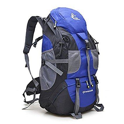 Magic Vida Zaini da Escursionismo Uomo Donna Zaino da Trekking Borsa da Viaggio Multifunzione Outdoor Trekking Montagna Campeggio 50 L (Blu)