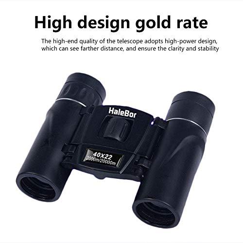 Minibolsillo binocular telescópico de alta resolución, visión nocturna en condiciones de poca luz