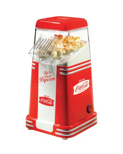 Best Bargain Nostalgia RHP310COKE Coca-Cola 8-Cup Hot Air Popcorn Maker