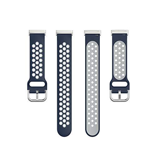 Shefii For -Fitbit Versa 3 Silikon Doppelfarbiges Armband Atmungsaktives Armband Armband Ba