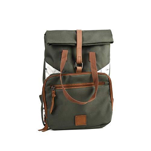 Esschert Design Picknick- Rucksack 2 Personen aus Polyester/Nylon/Edelstahl/Eisen/Kunststoff, 26 x 13,7 x 37cm, mit Camping-Besteck und Geschirr