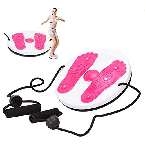 Balance Fitness Waist Twist Disc Tavole Di Allenamento Per Lo Sport Per Modellare Il Corpo Addominale Gamba Vita Fianchi Massaggio Ai Piedi Diametro 27,5cm Fitness Aerobico Ufficio A(Color:rosa rossa)