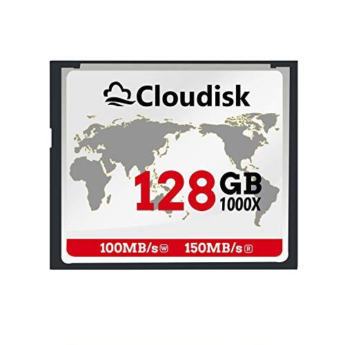 Cloudisk FF-kaart Compact Flash-geheugenkaart prestaties voor fotocamera's, 128 GB – 1000 x.