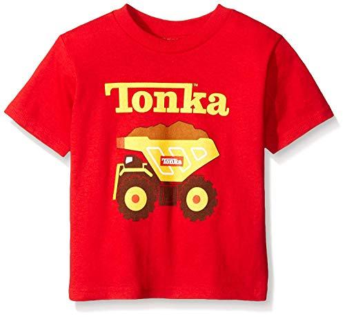 Tonka Little Boys' Toddler Short Sleeve T-Shirt, Red Classic, 4T