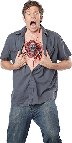 California Costumes Men's Parasite Chest, Flesh/RED, One Size