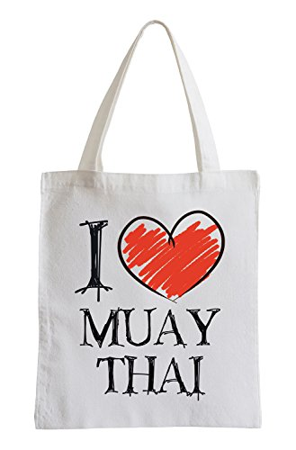 I Love Muay Thai Fun Jutebeutel
