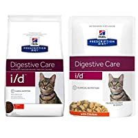 HILL'S PRESCRIPTION DIET FELINE I/D DIGESTIVE CARE - CHICKEN has been specially developed for cats with digestive tract conditions or acute resorption disruption in the gut. It contains an increased electrolyte content, with less fat and highly-diges...