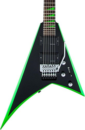 Jackson X Series Rhoads RRX24 Electric Guitar Black with Neon Green Bevels