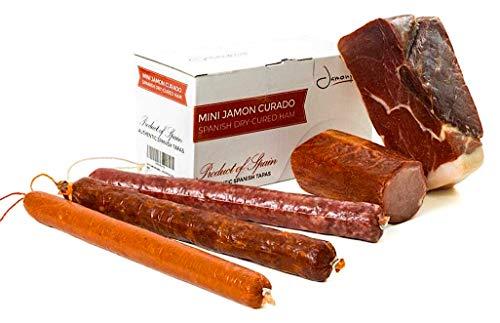 Jamón Serrano Curado Deshuesado 1 kg + Lomo Duroc Natural 250 gr + Chorizo Extra Vela Dulce 200 gr + Salchichón Vela 200 gr + Sobrasada 150 gr