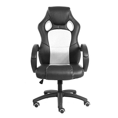 High Back Recliner For Adults, Gaming Swivel Chair Office Meeting Wheelchair Ergonomic Design, Breathable,White