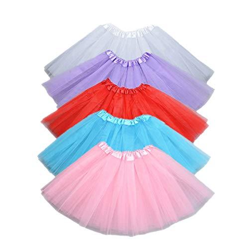 Toyvian 5 stücke Tutu Ballett midi Frauen Tutu tüll Petticoat Ballett Blase röcke Kurze Prom Dress up