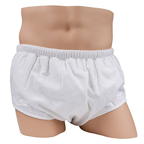 Pull On Style Adult Cloth Diaper by Leakmaster – Reusable Adult Diaper (2X-Large 44-52 inch waist)