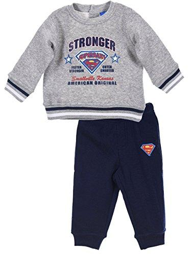 Jogging Bebé 'Superbaby' Superman rojo y gris de 6a 23meses gris Gris/marine Talla:12 meses