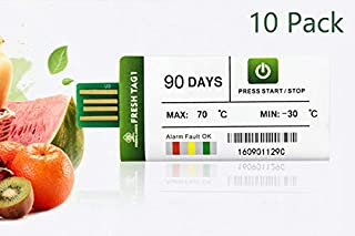 Freshliance USB Temperature Recorder Single Use DataLogger 90Days 10Pack Report 5 Minute Interval Max 129600 Points for Cold Chain Transport and Storage Automatic Generated PDF Easy Use Free Software