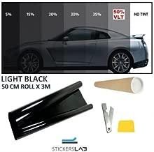 FRFJY Pellicola Isolante per vetri Auto Pellicola Trasparente per vetri a Spessore Trasparente antiusura Vlt15/% 20/% 25/% 35/% 50/%