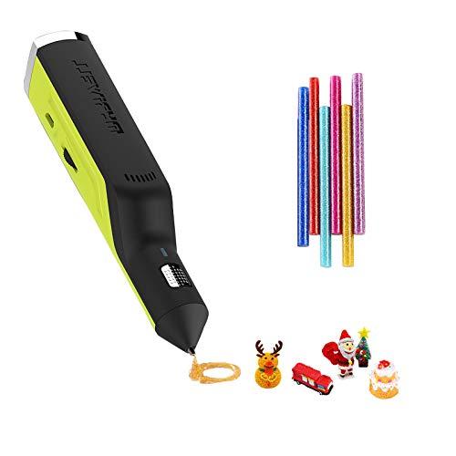 OBEST Penna 3D, Penna per Colla a Caldo, Funzionamento Wireless Ricaricabile e velocità Regolabile, Giocattoli creativi Fai-da-Te Adatti per la creazione e la modellazione, Regali per Bambini.
