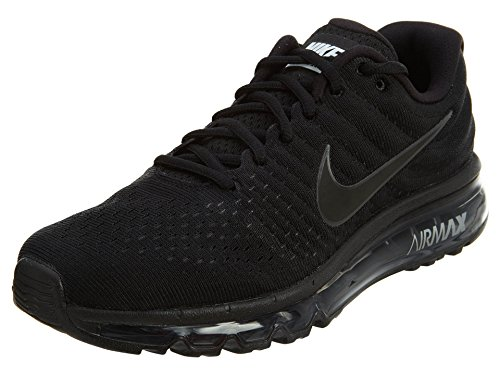 Nike Men's Air Max 2017 Running Shoe Black/Black-Black 15.0