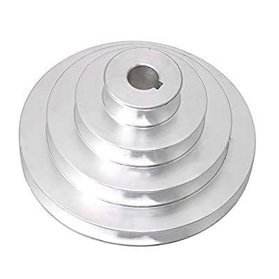 Yibuy 16mm Bore OD 41-130mm 4 Step Pagoda Pulley Timing Belt for A Type V Belt