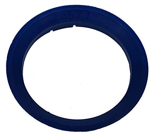 R&K 1 x anillo de centrado 63,3 x 57,1 compatible con CMS Rial Alutec DBV azul.