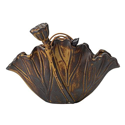 FOMIYES Lotus - Soporte para quemador de incienso portátil con bobina de mosquitos, cerámica, diseño vintage