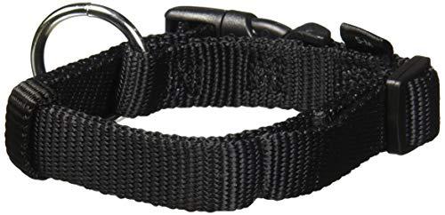 Classic collier, S–M: 30–45 cm/15 mm, noir, pour chien - avec sécurité