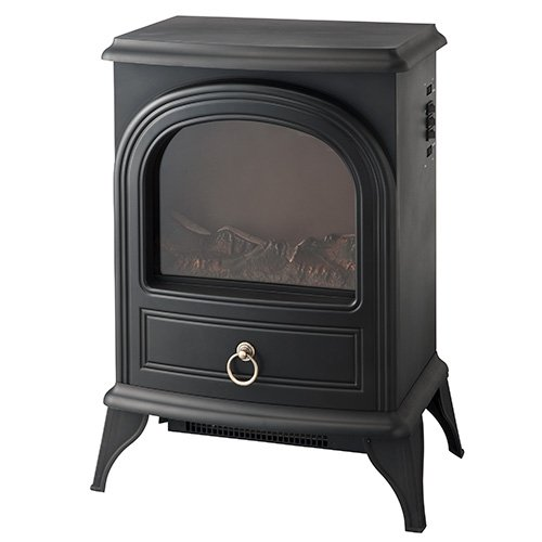IFUDO 暖炉型ヒーター 保証1年(ブラック)