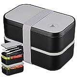 NADOZONE Lunch Box XXL - Bento 2000 ML pour Enfants/Adultes - Etanche Sans BPA -...