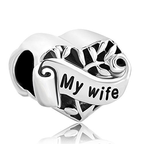 Sug Jasmin I Love You Heart Wife Charm Hollow Family Tree of Life Beads