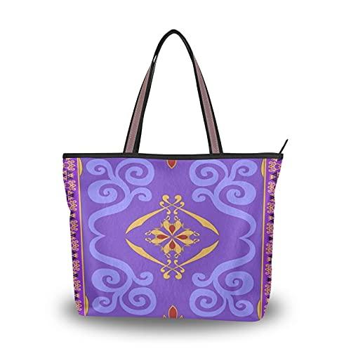 Aladdins tapis magique pour mère femmes filles dames étudiant sacs à bandoulière sacs à main sac fourre-tout sac à main Shopping sangle légère