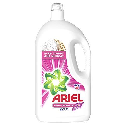 Ariel Detergente Líquido para Lavadora, Poder Quitamanchas Incluso a 30 °C, 3.8 L, 60 Lavados
