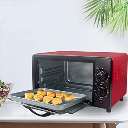 AZLLY 12L Electric Mini Oven with Double Hotplate, Multiple Cooking Functions & Grill, Adjustable Temperature Control,Timer - 800W