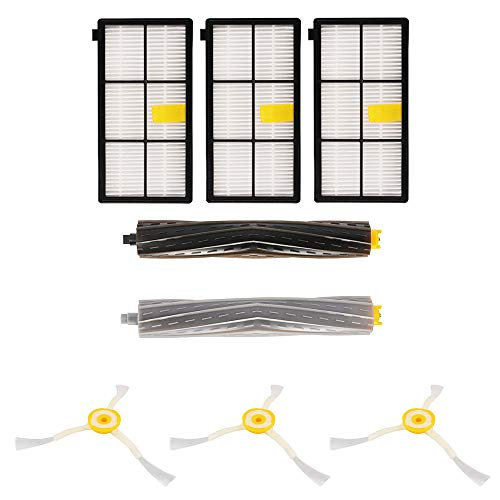 JVJ Kit de brosses de rechange pour iRobot Roomba série 800 et 900 - Accessoires brosse latérale avec vis