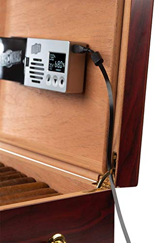Cigar Oasis Ultra 3.0 Electronic Humidifier for 50-150 Cigar Count Desktop Humidors – Slim sleek profile with lid mount option – The original set it and forget it humidification solution