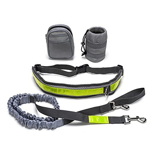Grevosea Correa de perro manos libres de diseño innovador con cinturón de cadera, riñonera para entrenar la correa para perros pequeños y medianos.