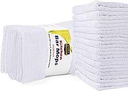 """top 10 costco white towels Utopia Towel Kitchen Bar Mop Towel, 12 Towel Set – 16 """"x 19"""", 100% Super Cotton…"""