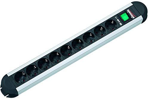Bachmann 330.072 stekkerdoos PRIMO met 9x geaarde contactdozen en 1x schakelaar, snoer 1,75 m, zwart