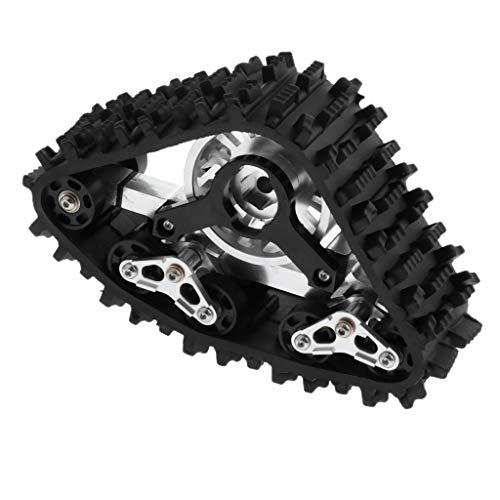 F Fityle Rueda de Neumático de Nieve de Pista de Escala 1/10 de Metal para Accesorios de Juguete de Orugas RC Axial SCX10