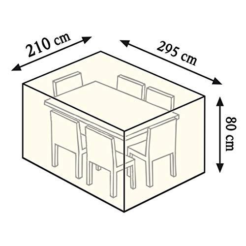 Videx 22172 Cover Tischgruppe rechteckig 295 x 210 x 80 cm beige