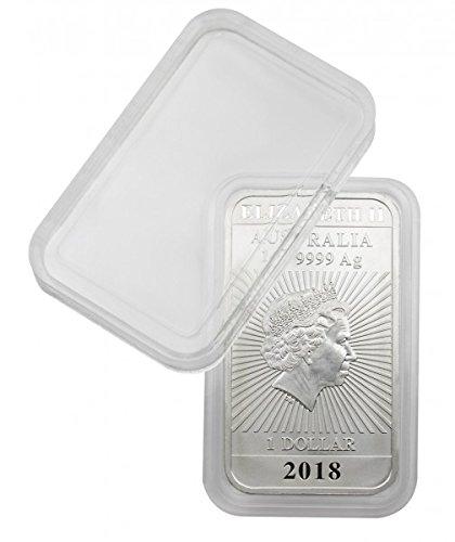 Lindner: rechteckige Münzkapseln Innenmaße 27 x 47 mm, z.B. für 1 OZ. Australien (Silber) - per 1, 5 oder 10 Stück zur Wahl (per 10 Stück)