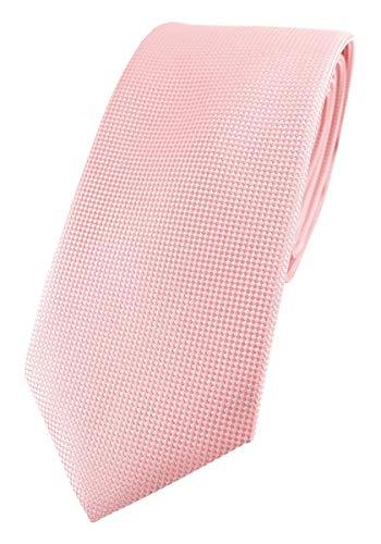 TigerTie - Corbata de diseño moderno con puntos finos. Corbata de 7 cm de ancho., Rosa., Talla única