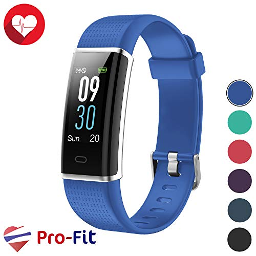 Pro-Fit Fitness Tracker, Activity Tracker with Color Screen, Heart Rate Monitor, 14 Sports Modes & Sleep Monitor, IP67 Waterproof Pedometer Watch, VeryFitPro Smart Wristband, Android & iOS (Blue)