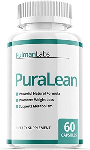 (Official) PuraLean Pills, Advanced Formula Purileaf Reviews Fulman Labs Capsules Puriclean Detox Pills Supplement, 1 Bottle Package, 30 Day Supply